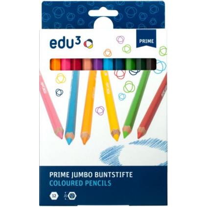 EDU1281012 premiove jumbo sestihranne pastelky K12