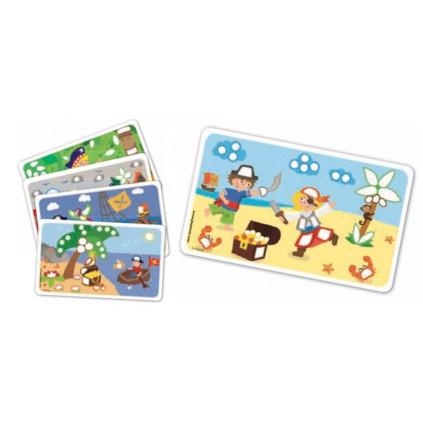 PM160088 PLAYMAIS Card Set Fun to play Pirati