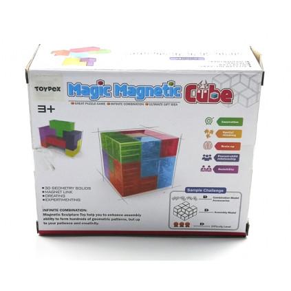 MH380015 Magic magnetic cube transparent 01