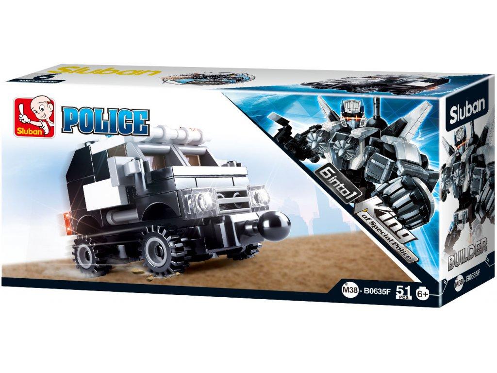 Sluban Builder M38-B0635F Člun King of Police 6 into 1
