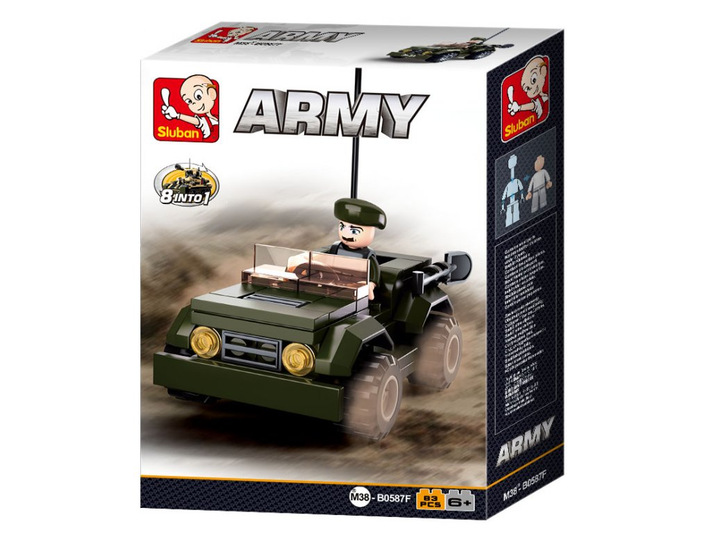 Sluban ARMY 8into1 M38-B0587F Džíp