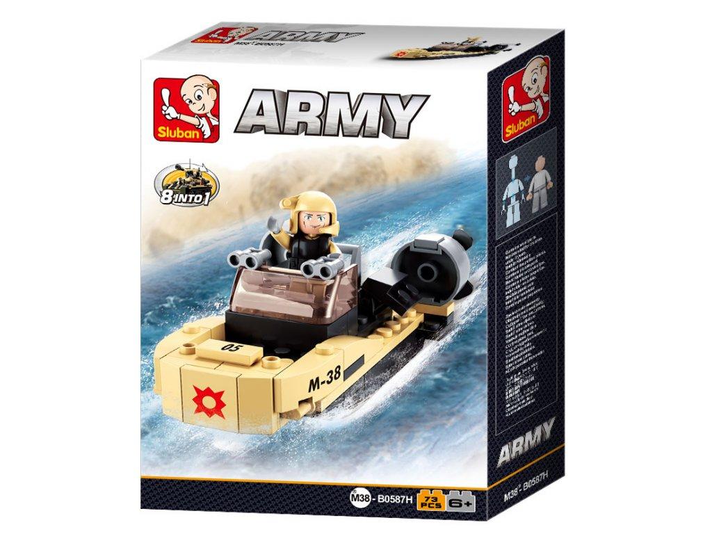 Sluban ARMY 8into1 M38-B0587H Útočný člun