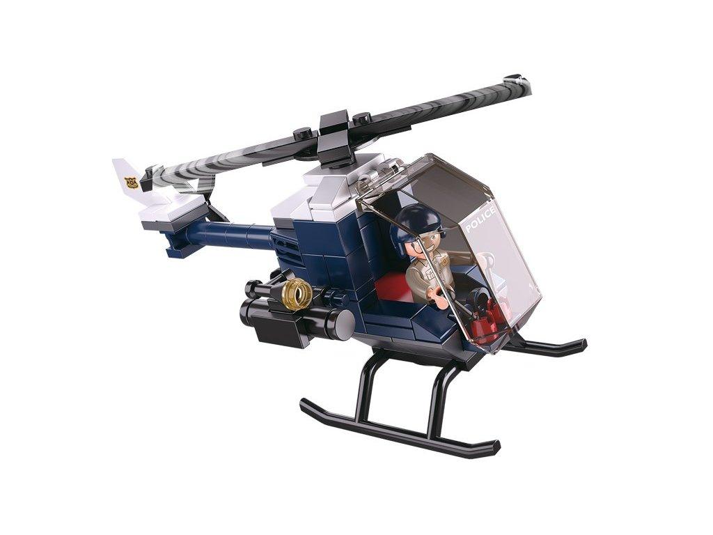 Sluban Policie 4into1 M38-B0638B Helikoptéra