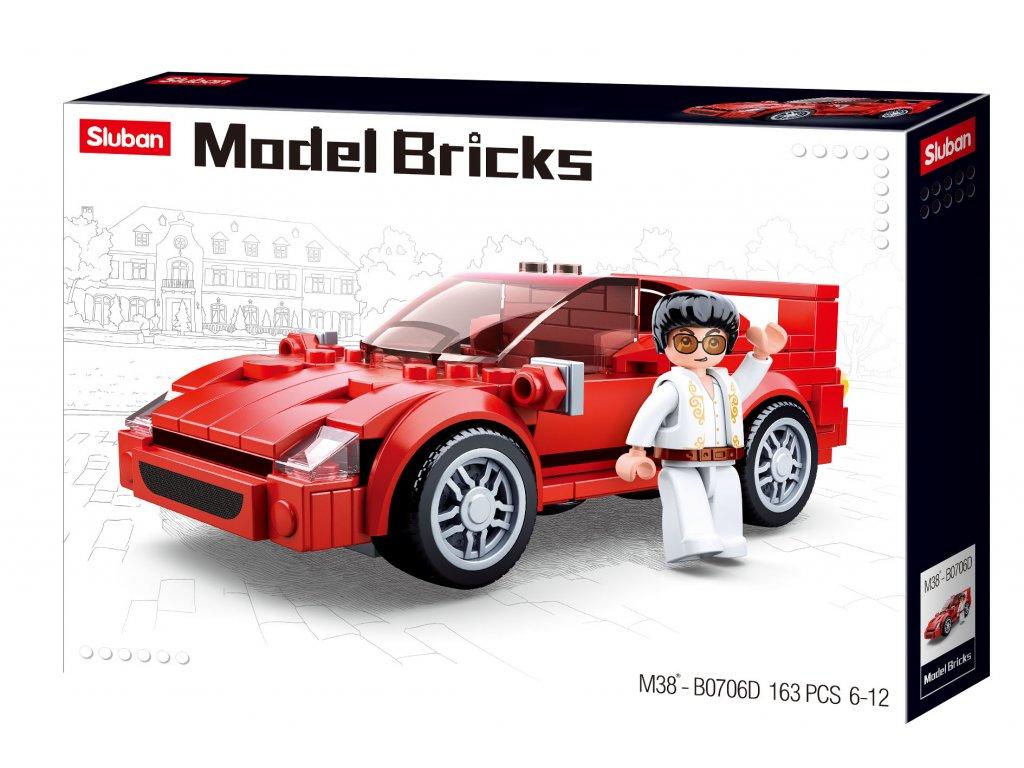 Sluban Model Bricks M38-B0706D Italský sporťák