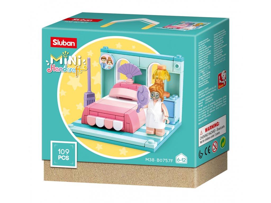 Sluban Mini pokojíčky M38-B0757F Ložnice