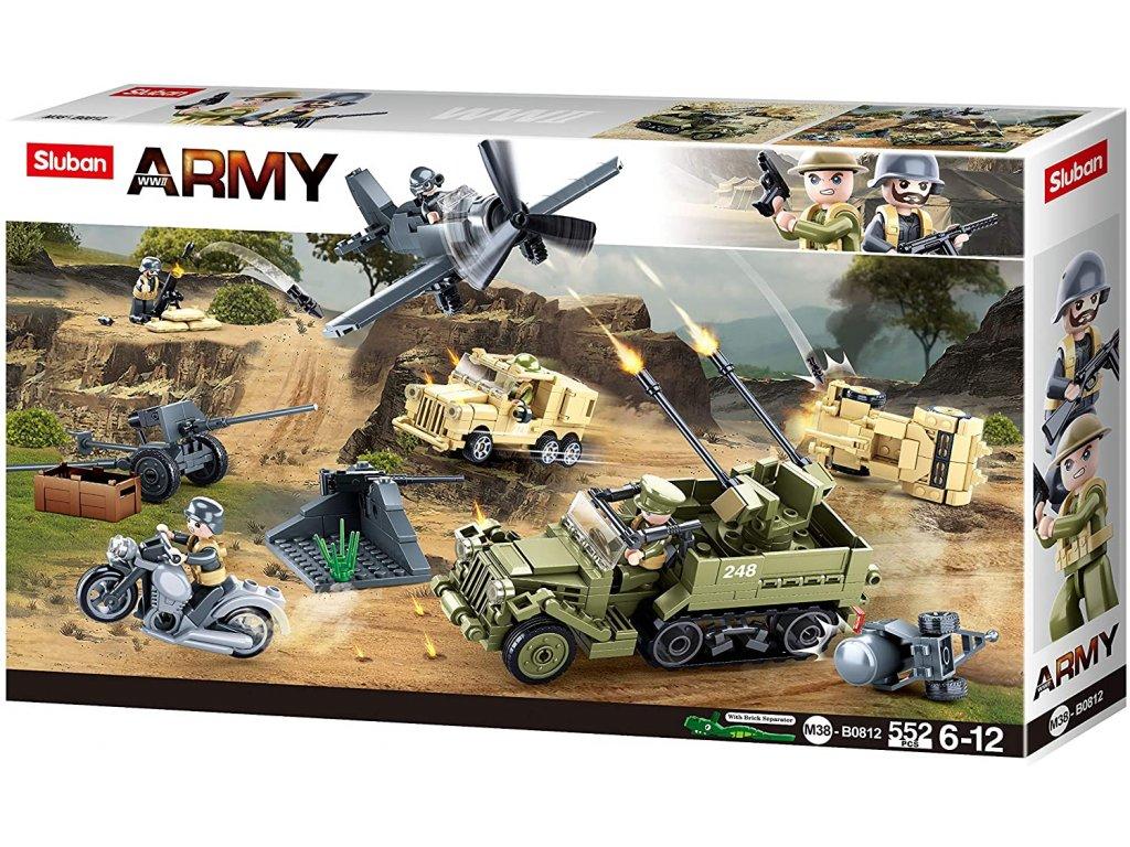 Sluban Army M38-B0812 Vojenské vozidla