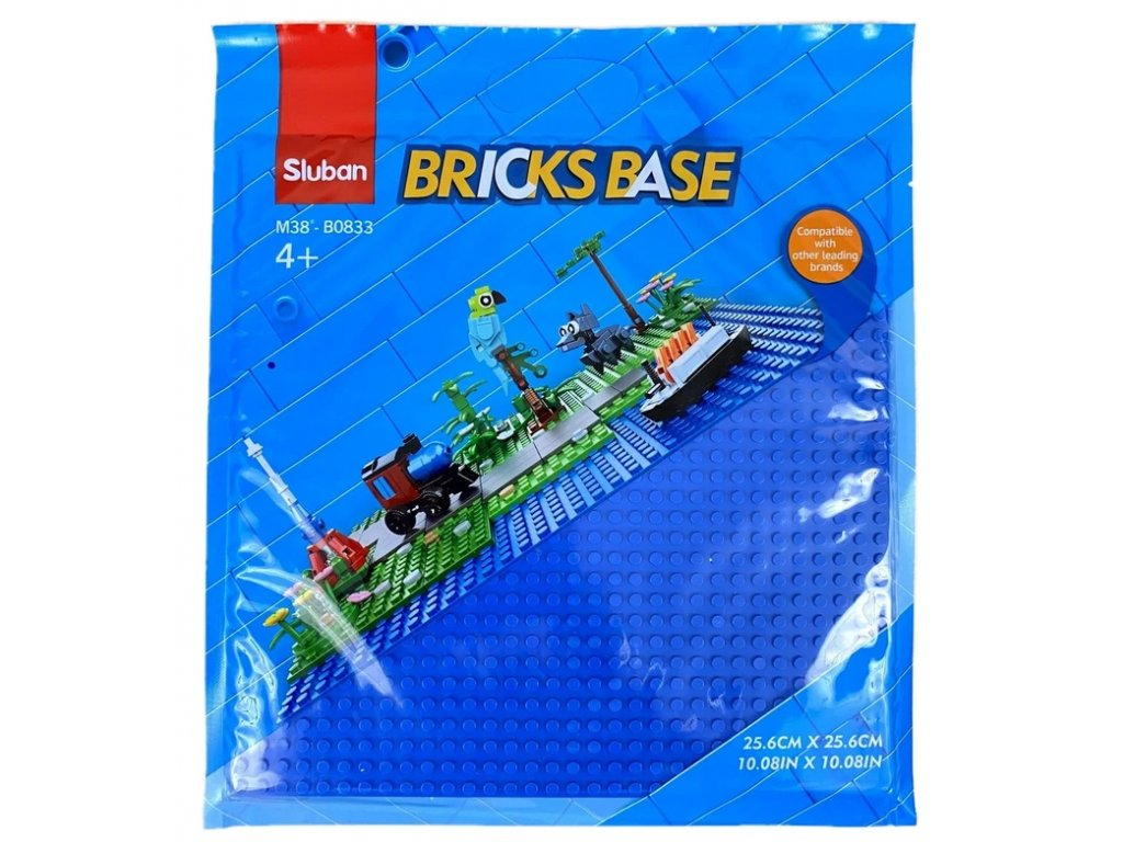 Sluban Bricks Base M38-B0833E Základní deska 25.6 x 25.6 cm modrá