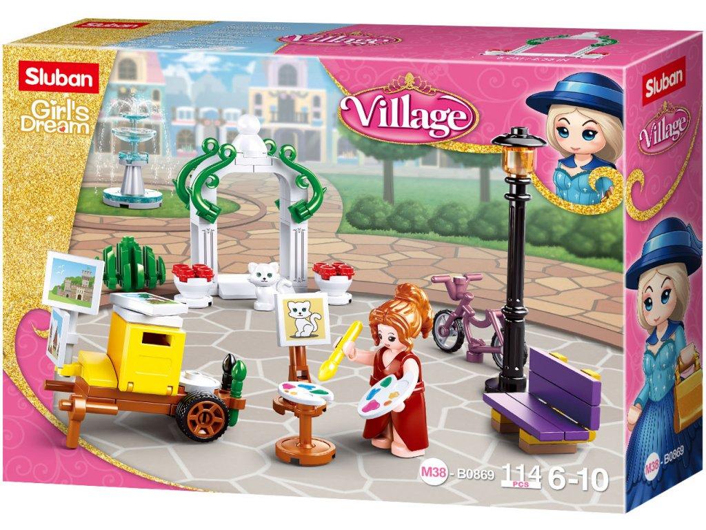 Sluban Girls Dream Village M38-B0869 Malířka v parku