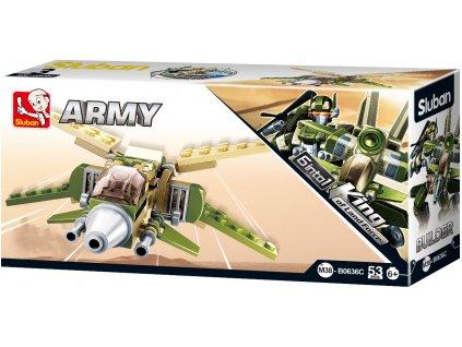 Sluban Builder M38-B0636C Tryskáč King of Land Force 6 into 1