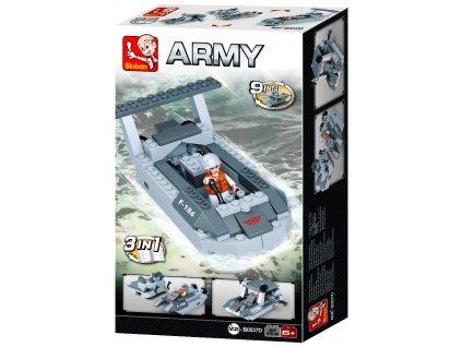 Sluban Army Creator M38-B0537D Vyloďovací člun 3v1
