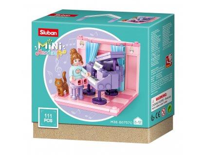 Sluban Mini pokojíčky M38-B0757C Dětský pokoj