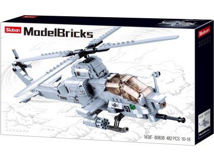 Sluban Army Model Bricks M38-B0838 Bitevní helikoptéra