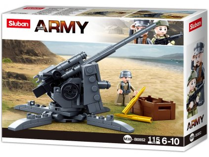 Sluban Army WW2 M38-B0852 Protiledlový kanón