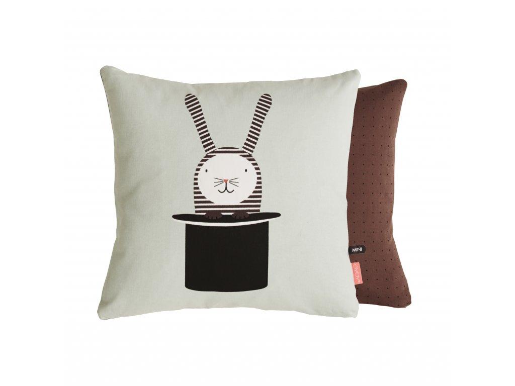 oyoy rabbit in hat cushion mini 16221140430 o