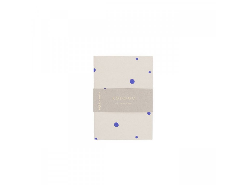 Kodomo Monk Anna Notebook small Blue dots Banderol 1280x1280