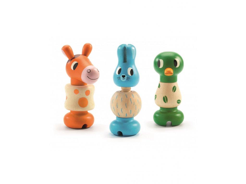 drevena trio sroubovaci zviratka