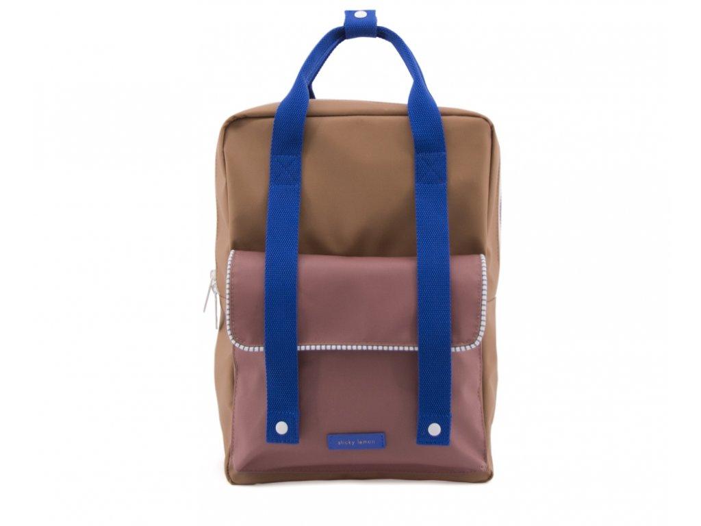 1801416 Sticky Lemon envelope deluxe backpack large Ink blue, hotel brick, sugar brown (1)
