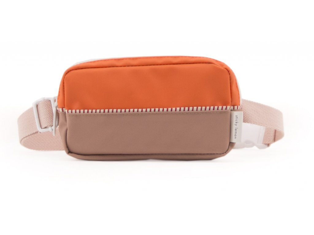 1801400 Sticky Lemon product fanny pack colour blocking royal orange, pastry pink, cho