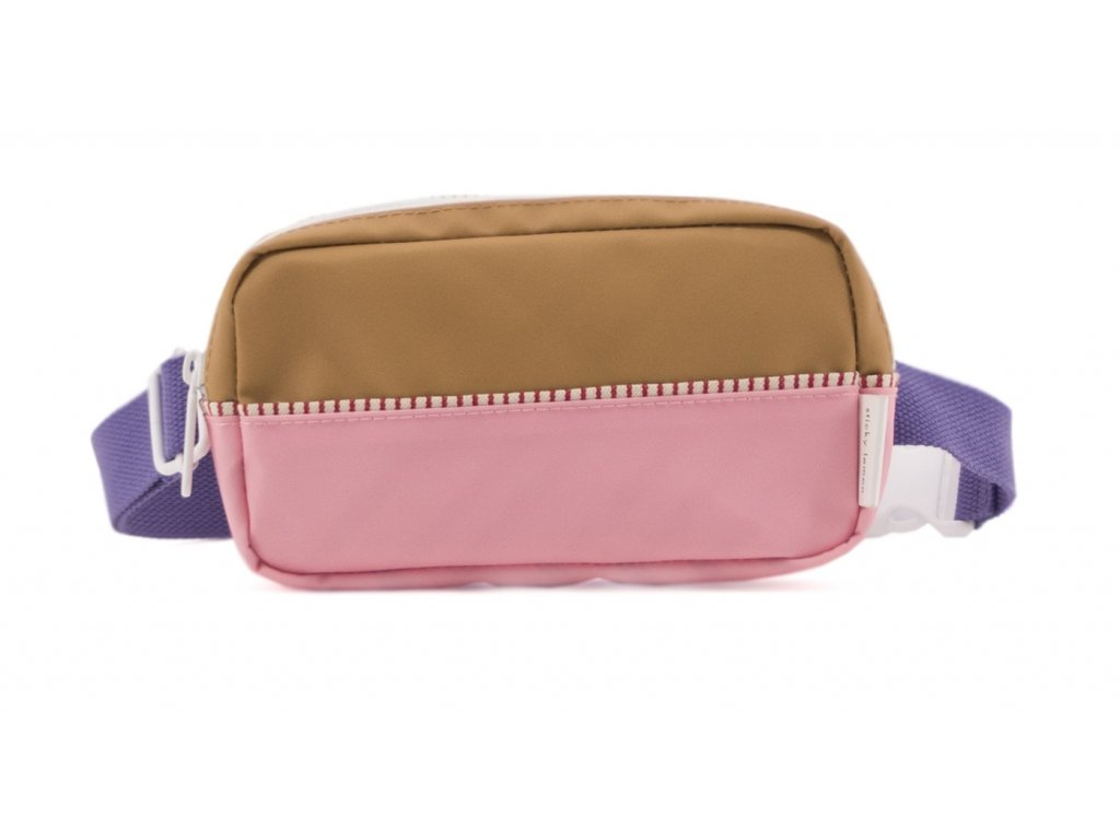 1801401 Sticky Lemon product fanny pack colour blocking panache gold, lobby purple, pu