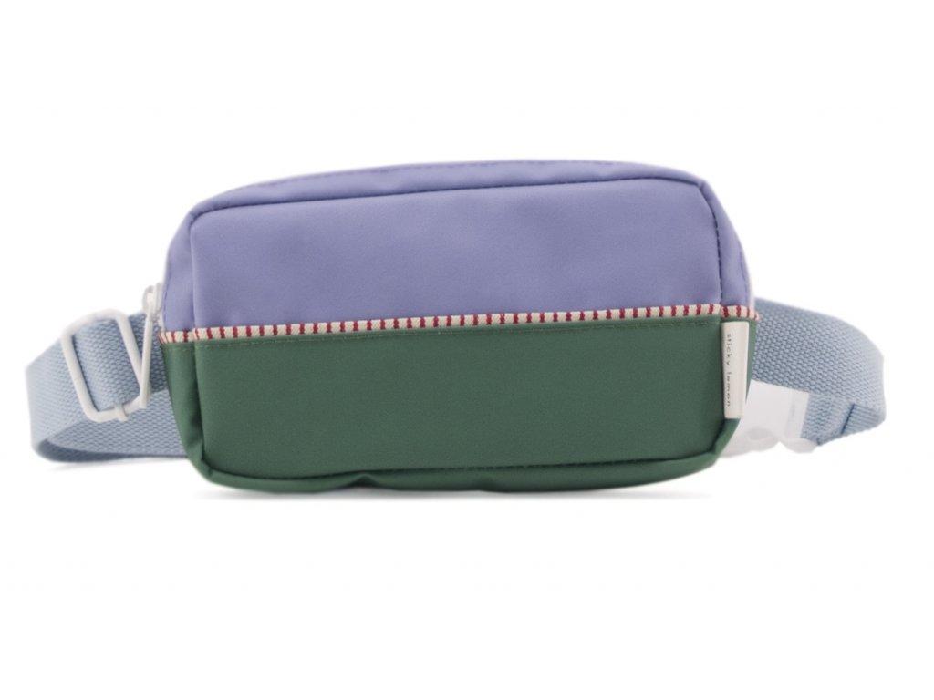 1801402 Sticky Lemon product fanny pack colour blocking moustafa purple, henckles blue