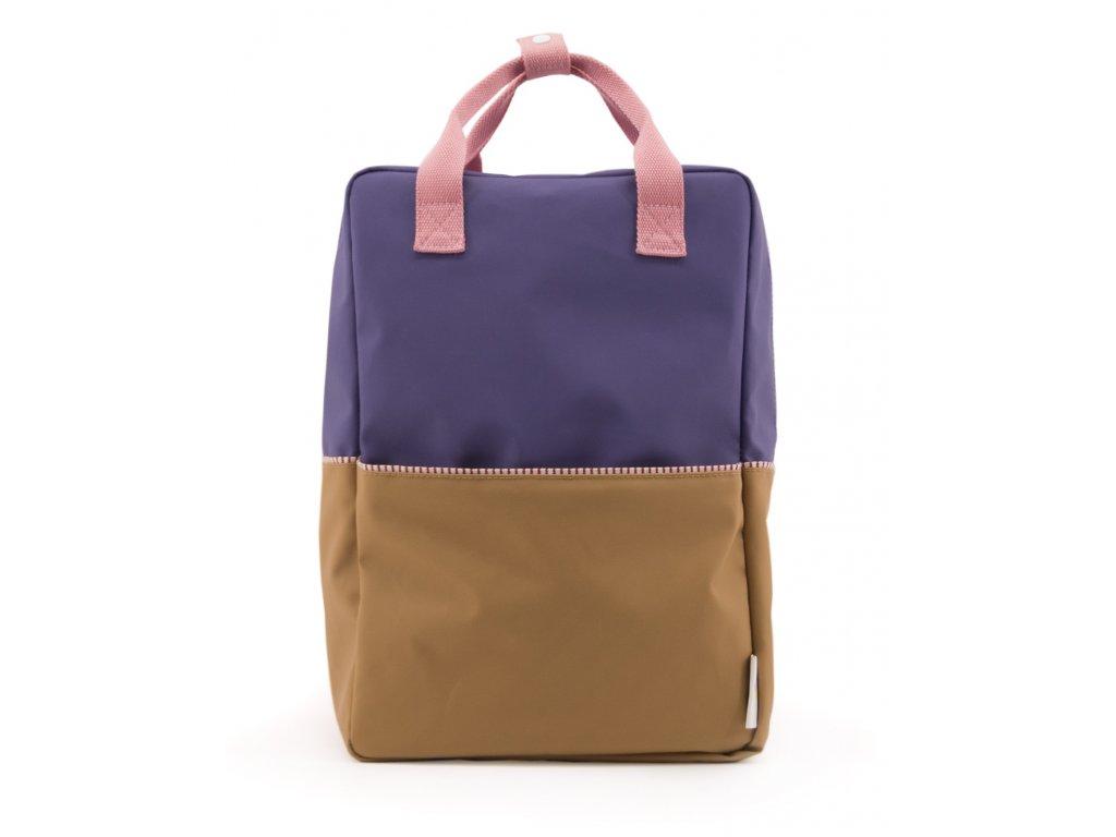 1801397 Sticky Lemon product backpack large colour blocking panache gold, lobby purple 1