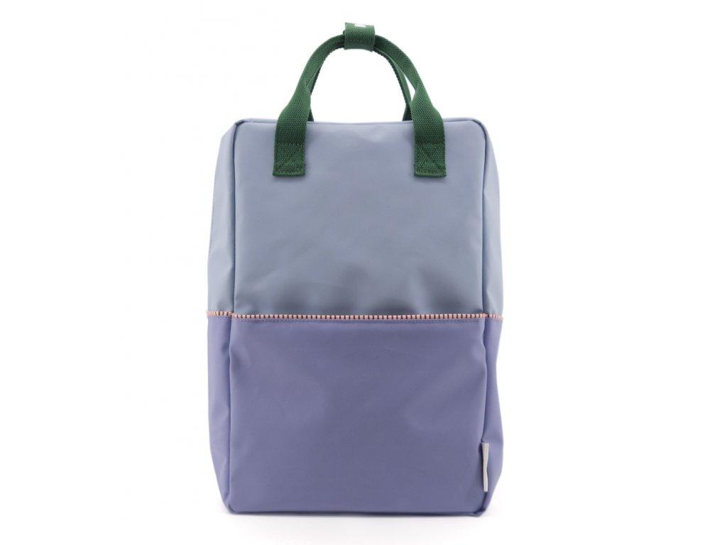 1801398 Sticky Lemon product backpack large colour blocking moustafa purple, henckles 1