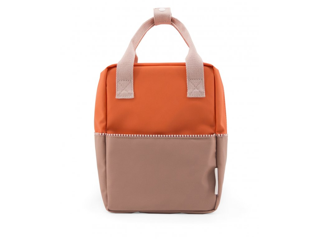 1801392 Sticky Lemon product backpack small colour blocking royal orange, party pink,