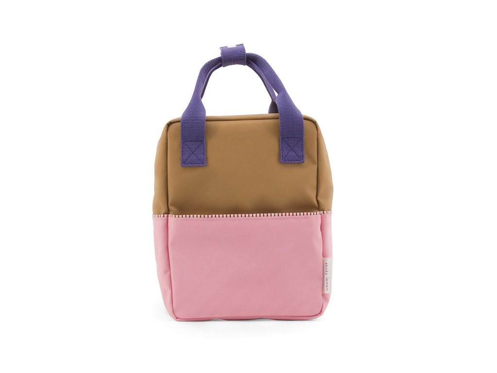 1801393 Sticky Lemon product backpack small colour blocking panache gold lobby purple