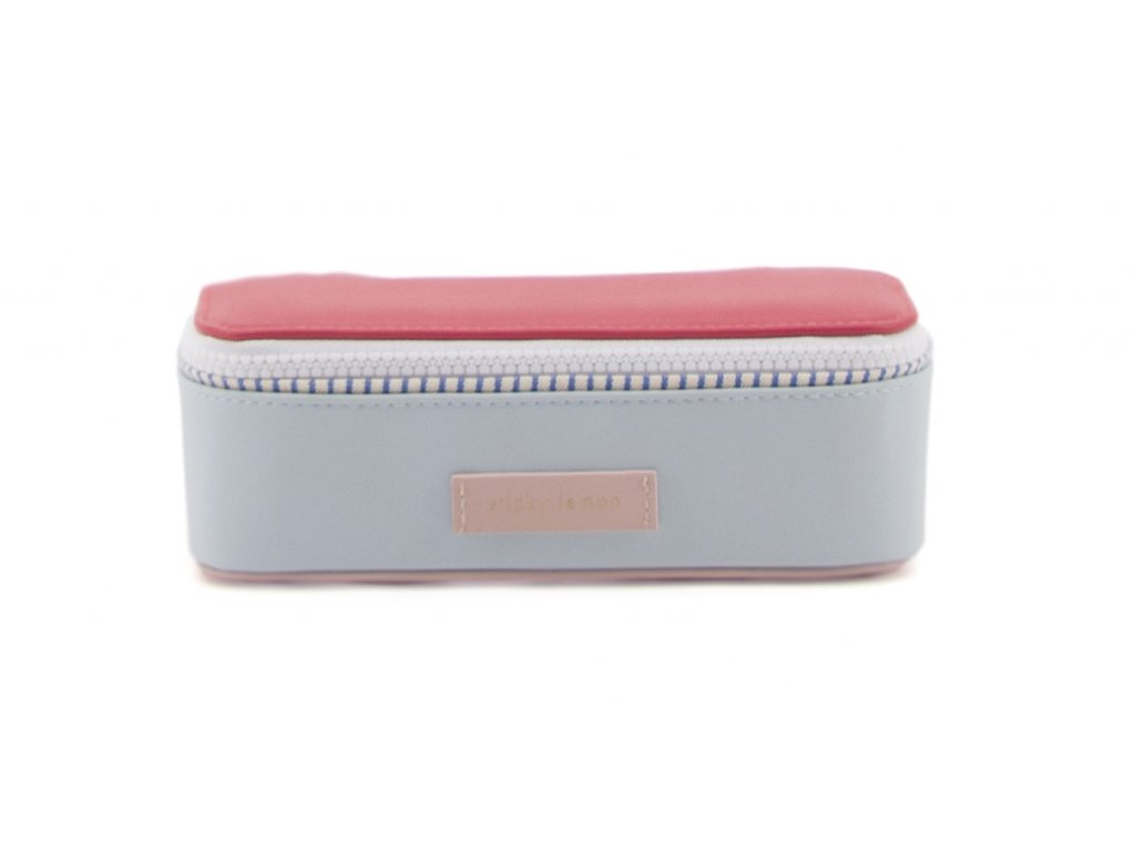 1801422 Sticky Lemon pencilbox Mendl's pink, agatha blue, elevator red front