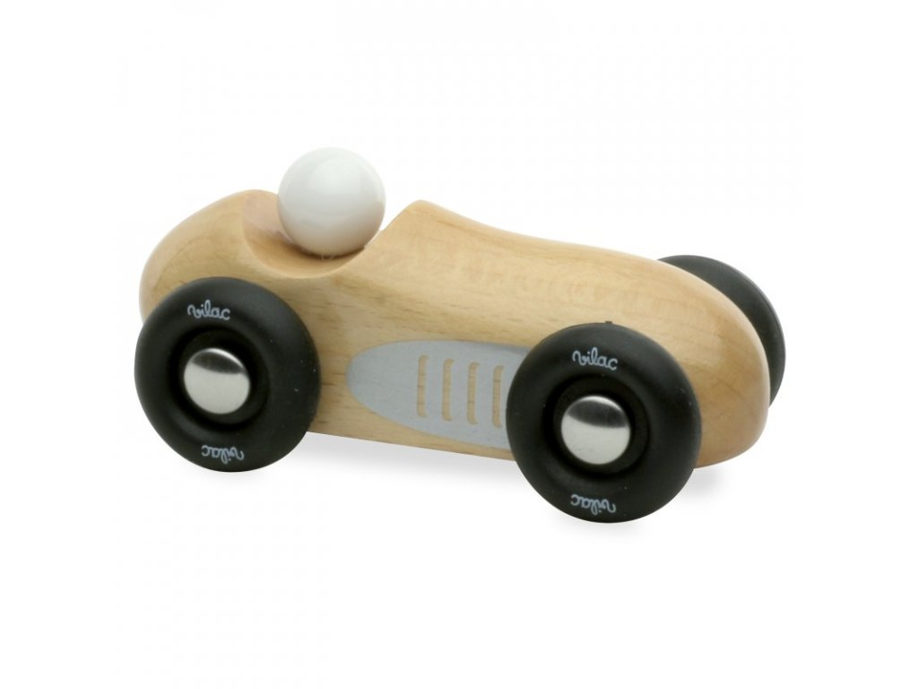 natural wood mini old sport car
