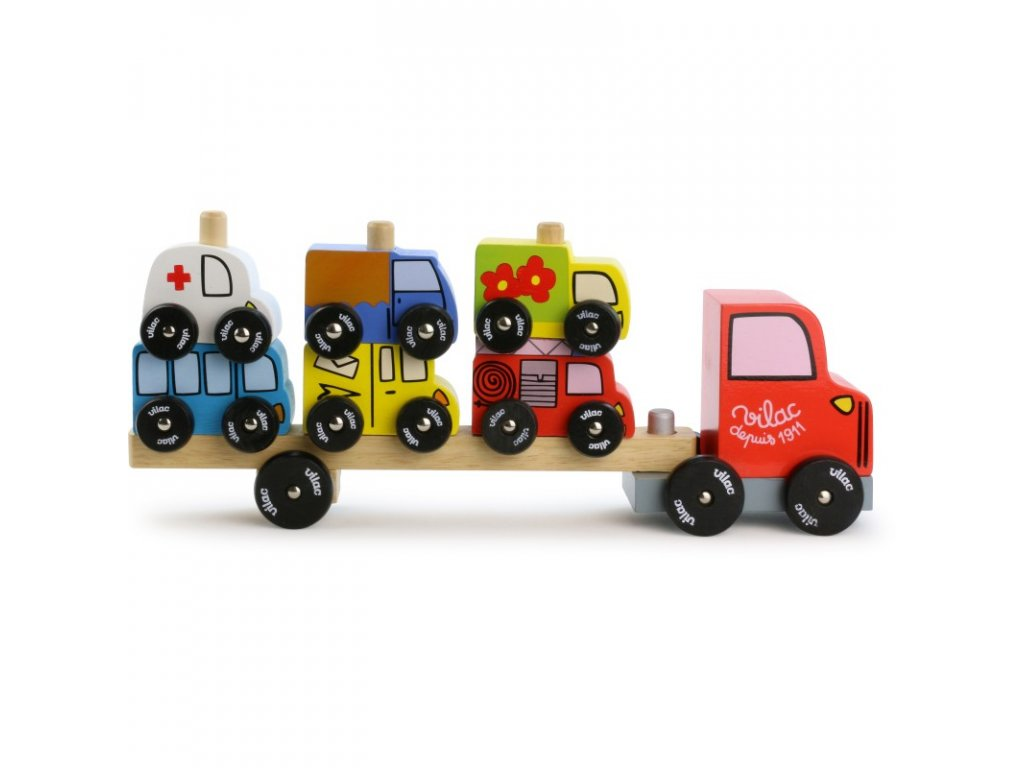 truck trailer with vehicules stacking game (1)