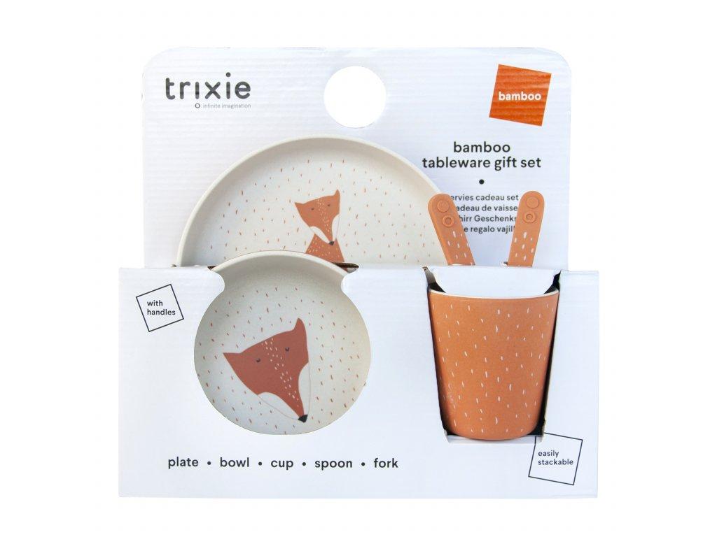 Dětský jídelní set  Trixie - Mr. Fox