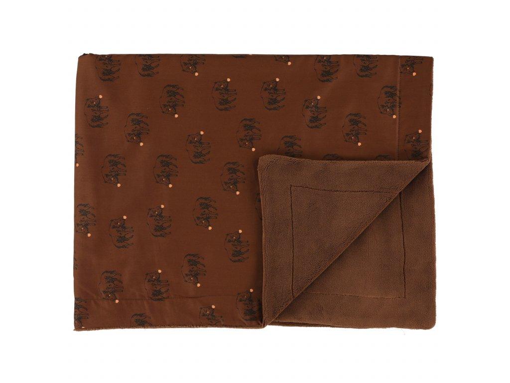 Fleecová deka Trixie - Truffle Pig 75 x 100 cm
