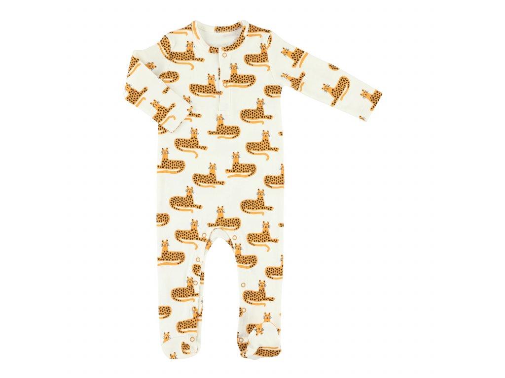 Dětský overal dlouhý rukáv Trixie - Cheetah 74/80