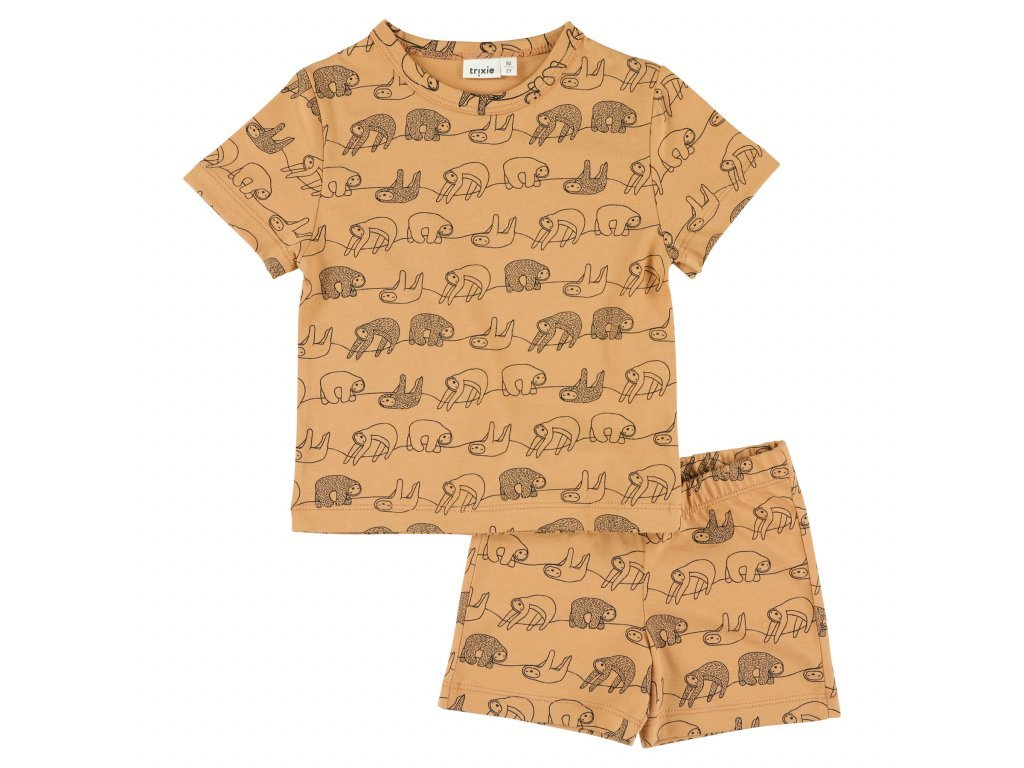 Pyžamo krátký rukáv Trixie - Silly Sloth - 8 let