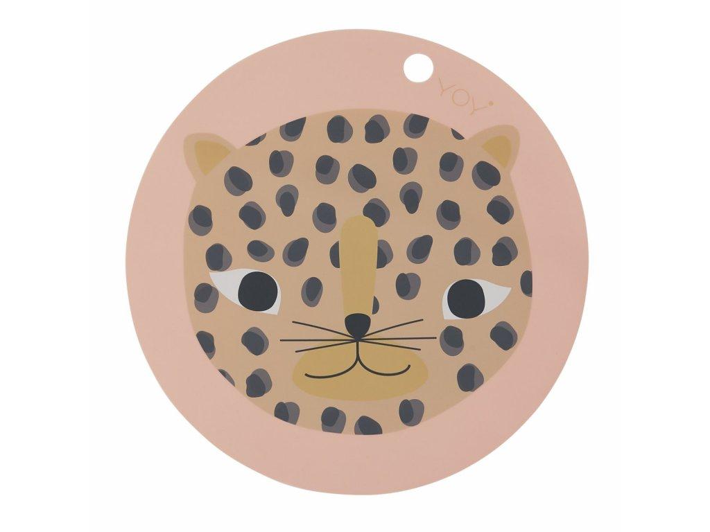oyoy snow leopard placemat oyoy dusty pink