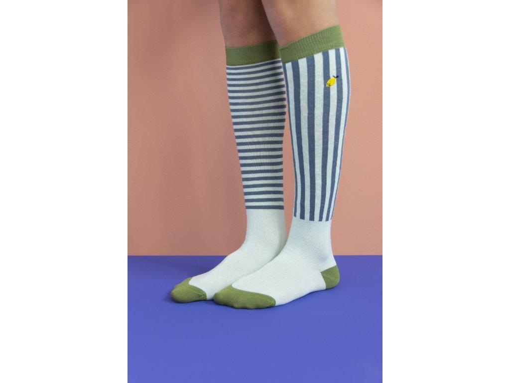 1801514 1801515 1801516 1801517 1801518 1801519 Sticky Lemon knee high socks stri