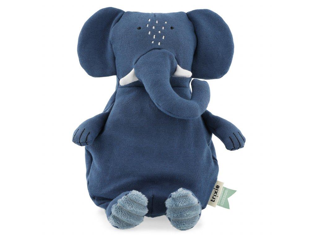 100% organic cotton plush toy small - Mrs. Elephant