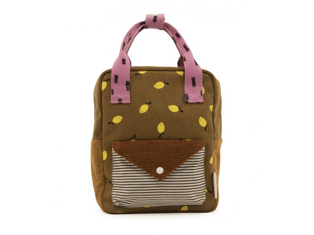 1801815 Sticky Lemon product backpack small dijon + gingerbread