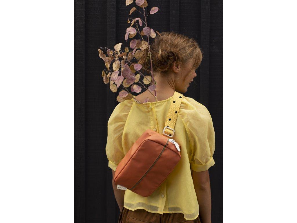 1801652 Sticky Lemon fanny pack large freckles faded orange + retro yellow style shot