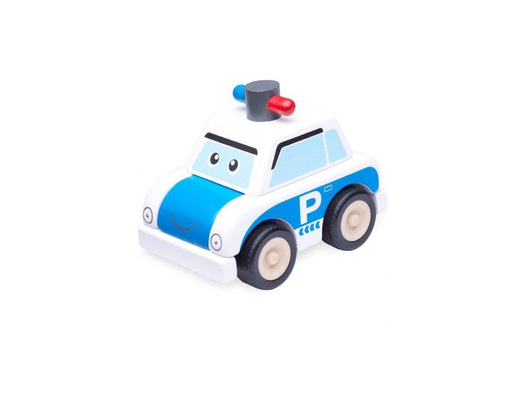304 drevena mini stavebnice policejni auto