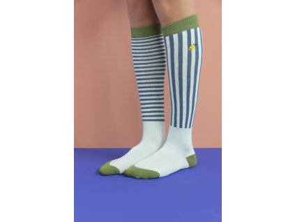 1801514 1801515 1801516 1801517 1801518 1801519 Sticky Lemon knee high socks stri