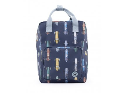 1702008 Studio Ditte backpack large boys race cars
