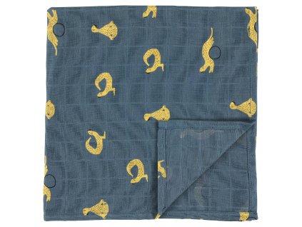 Bavlněná plenka Muslin cloths - Whippy Weasel - velká, set 2 ks