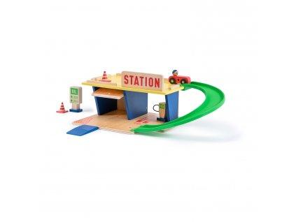 MR720408 Tankstelle aus Holz 1