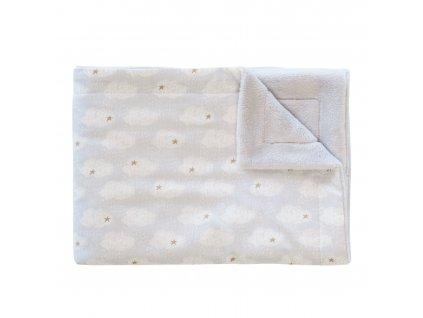 Fleecová deka Trixie - Clouds 75 x 100 cm