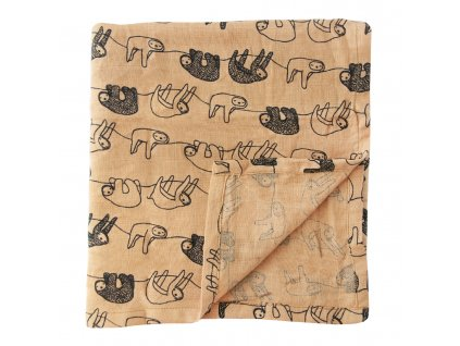 1133417 1 bavlnena plenka muslin cloths silly sloth velka 2 ks