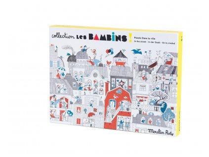 Puzzle Dans la ville 208 pieces Les Bambins Moulin Roty 2 1