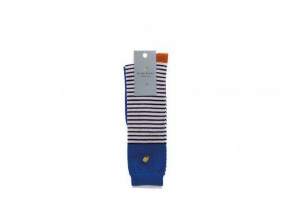 Pruhované podkolenky Ink blue stripes - Sticky Lemon 32/35