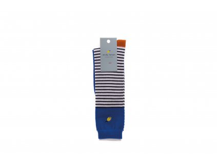Pruhované podkolenky Ink blue stripes - Sticky Lemon 35/38